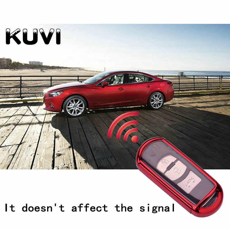 TPU + PC obudowa kluczyka do samochodu sprawa nadaje się do Mazda 2 3 5 6 2017 CX-4 CX-5 CX-7 CX-9 CX-3 CX 5 akcesoria