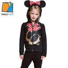 Ykyy yakuyiyi doux impression de dessin animé filles manteau fermeture éclair à capuchon bébé filles manteaux & manteau à manches longues enfants vestes filles vêtements