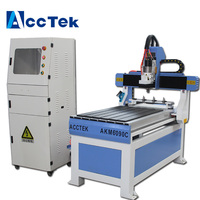 600*900*200mm advertising cnc router AKM6090C cnc mini milling machine 2.2KW water cooling ATC spindle