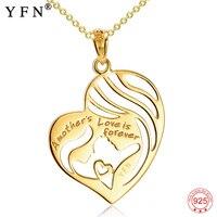 GNX11410 Одежда высшего качества Золотая цепь с золотые подвески Цепочки и ожерелья s Модные украшения сердце Цепочки и ожерелья матери любовь