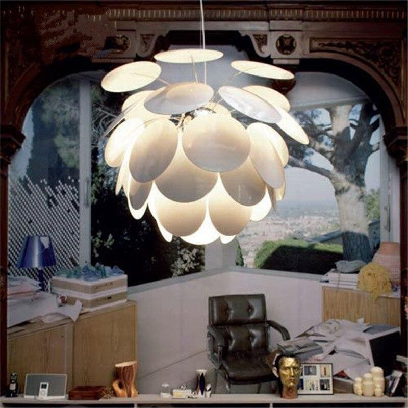 Простой современный диск сосна конусовидная люстра творческая личность искусство бар лампа столовая лампа гостиная лампа спальня лампа