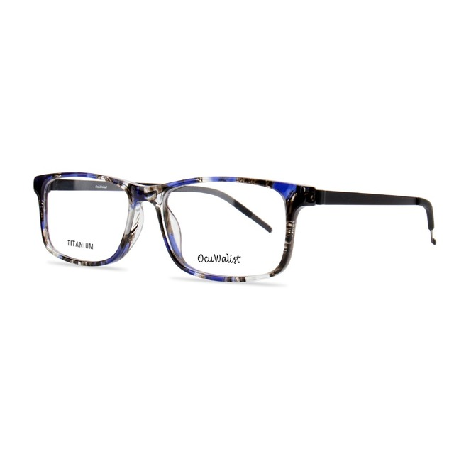 7fec3ebd3a Fashion men and modern women optical eye glasses eyeglasses blue stain  acetate Rectangle Spectacle frame C 4314