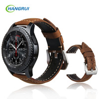 Genuine Leather Watch Strap For Samsung Gear S3 Band Replacement Watch Bracelet 22mm For Gear S3