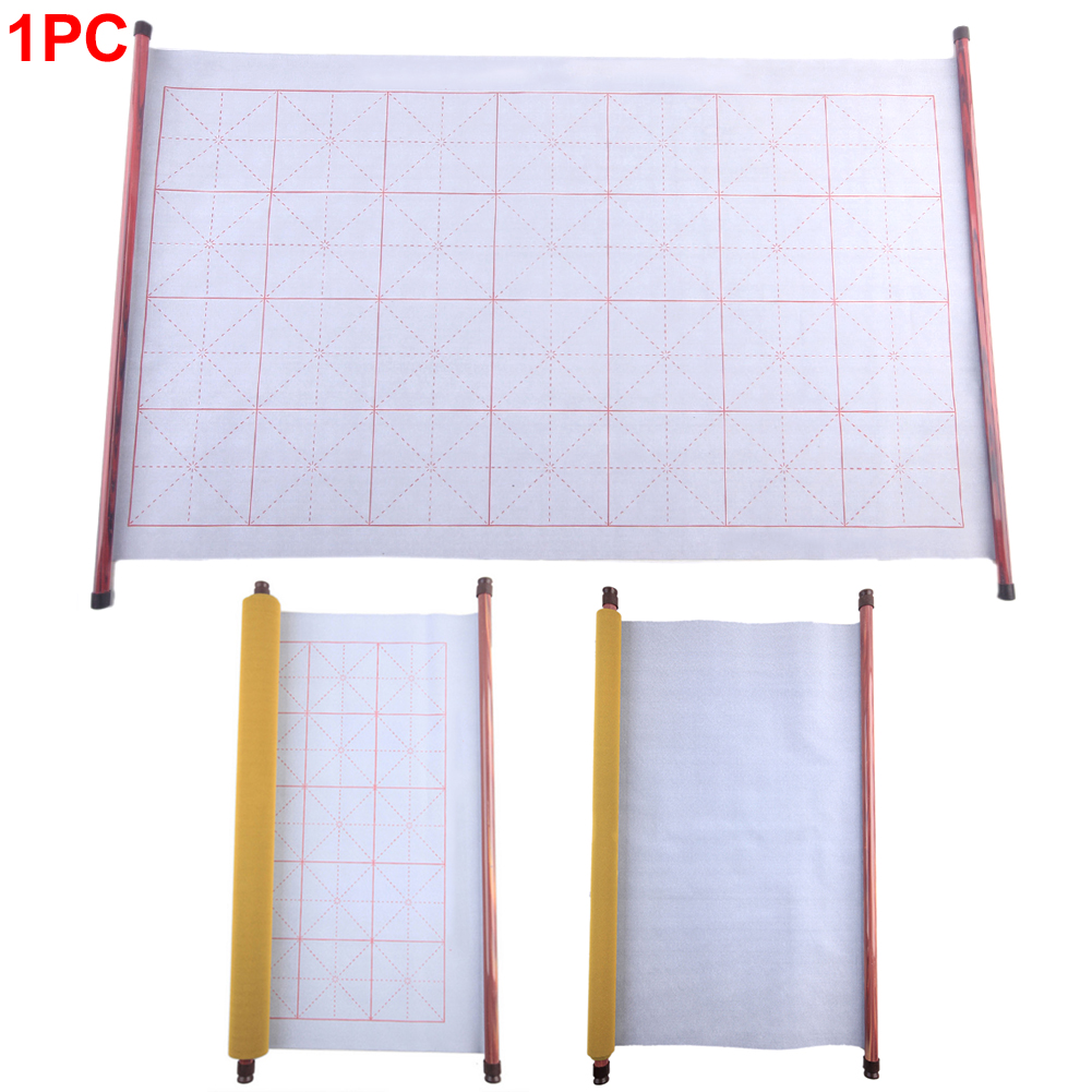 Oxford Magic Water Writing Cloth Reusable Washable Reel Thicken Gridded Notebook Mat Use Ink Practicing Chinese Calligraphy