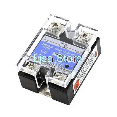 Groove End LED Indicator Light DC/AC Solid State Relay 60 Amp 24-480VAC 3-32VDC 3 32vdc 480vac 80a 3p ssr solid state relay tn1 380d w indicator light