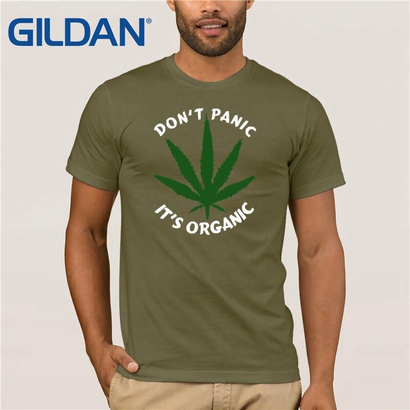 Nerd Tee   Shirt   2019 Weed Don'  t   Panic It's Organic Cotton   T     Shirt   For Men Latest Hip Unique   T  -  Shirt   Cotton Cloth