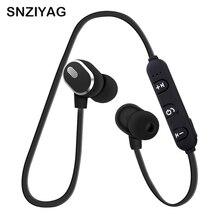 SNZIYAG S08 Беспроводной Bluetooth наушники магнитные наушники спортивные анти-пот металлические наушники V4.1 С микрофоном для IOS Android