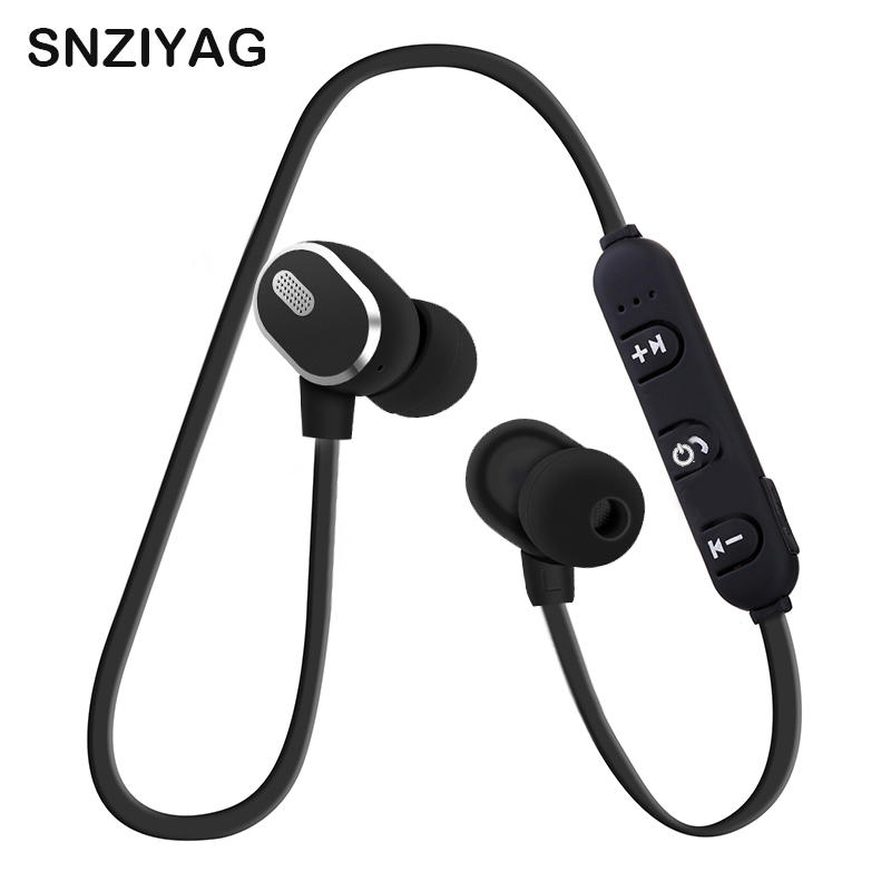 SNZIYAG S08 Wireless Bluetooth Earphone Magnetic Earbuds Sport Anti-sweat Metal Headphone V4.1 With Microphone For IOS Android in ear bluetooth earphone anti sweat wireless bluetooth 4 0 sport headphone c08 black yellow red green blue