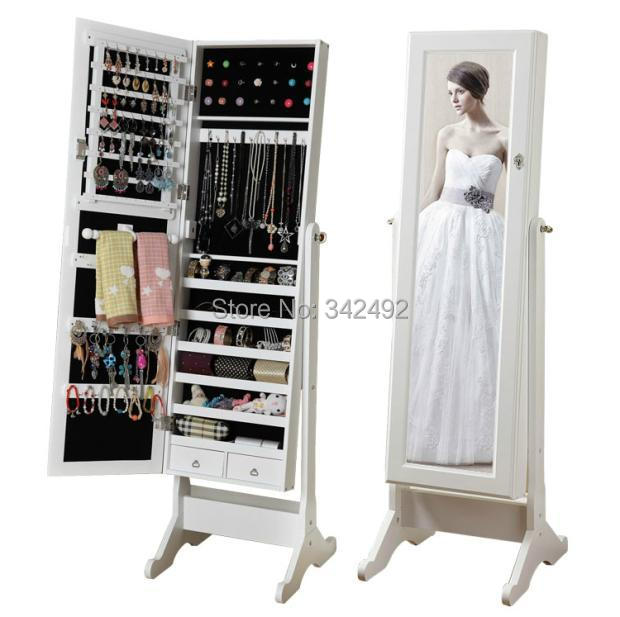 Fashional Mirror Jewelry Cabinet Made In China Open Door Jewelry