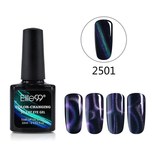 Elite99 Nail art 3 Farbe 3D Chamäleon Farben Ändern Magnetic Katze Augen Gel Lacke Nagellacke Gele Maniküre Nail art