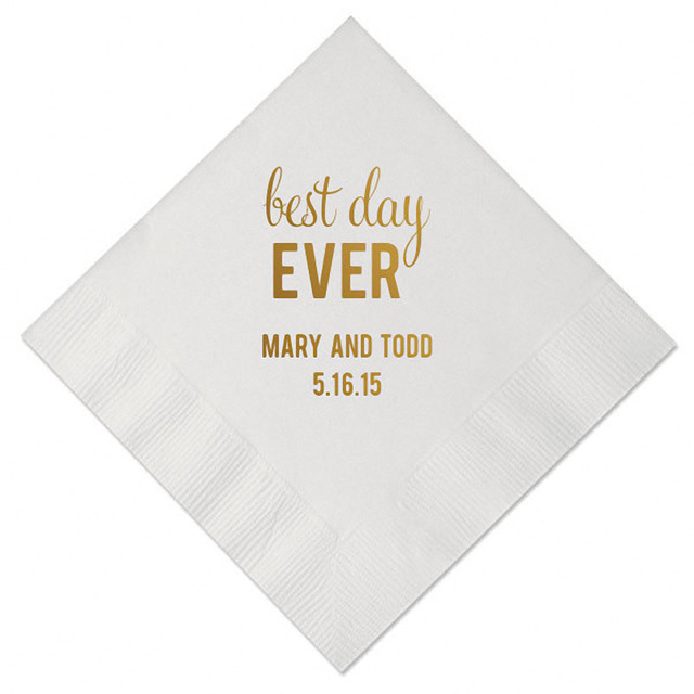 set of 100 personalized napkins decoupage tissue paper custom table