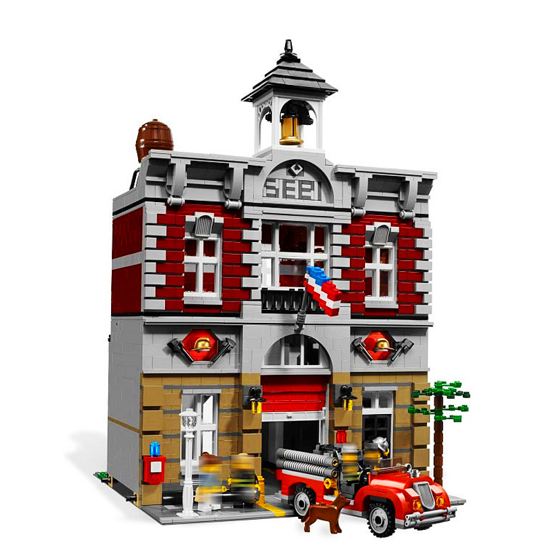 LEPIN 15004 Streetview Series 2313pcs City Street Fire Brigade Building Block Bricks set Toys For children Legoing 10197 Gift 2017 enlighten city series garbage truck car building block sets bricks toys gift for children compatible with lepin