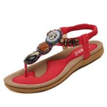 Hot sale women sandals fashion rhinestone skid flip flops women shoes sandals plus size women summer flat shoes st01