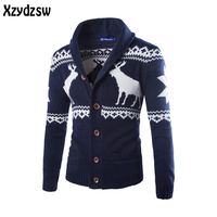 2016 Christmas Deer Sweater Men Casual Sweater Men Sweaters Cotton Pullover Slim Skinny Fit Pull Homme