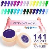 CANNI Painting Color Gel New 141 Colors 5ml Jar Pure Colors 50618 Nail Art Salon Recommended Soak UV LED Nail Gel Color Paints
