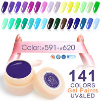 CANNI Painting Color Gel New 141 Colors 5ml Jar Pure Colors Varnish Nail Art Salon Recommended Soak UV LED Nail Gel Color Paints