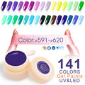 Pintura color canni gel nuevo 141 colores 5 ml tarro de colores puros 50618 Nail Art Salon Recomendado Remojo UV LED de Uñas de Gel de Color pinturas