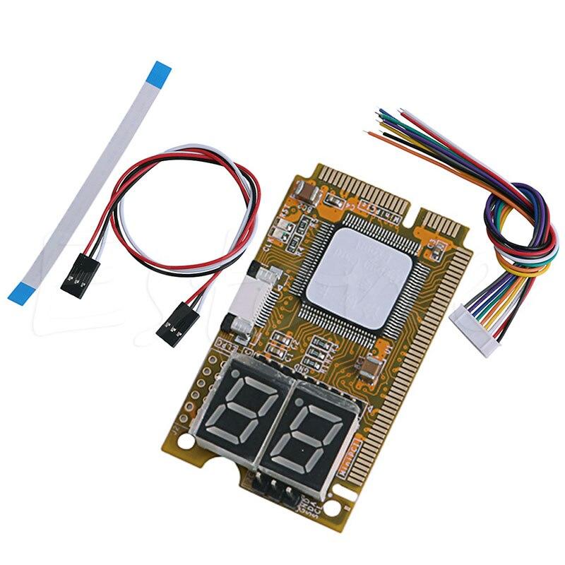 1 Unidades 5 en 1 Notebook diagnóstico tarjeta de Test Post Debug Karte Mini PCI I2C PCI-E LPC ELPC alta velocidad