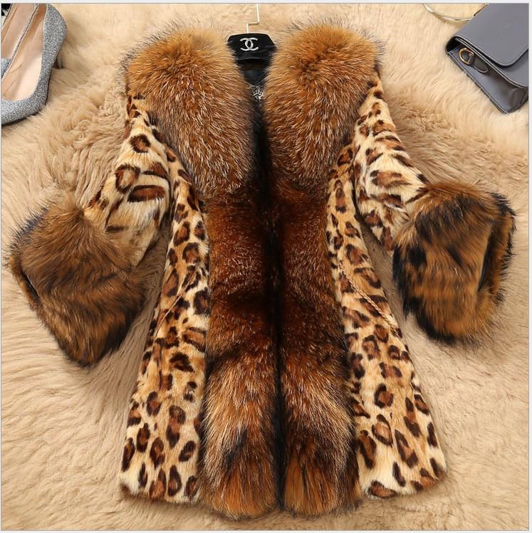 Fourrure Outwear Classique Coupe Automne Nouveau Leopard Hiver S vent Veste Femmes Léopard Print Imprimé Chaud xxxl Épais Faux Oversize Manteau xwzxdPqXY