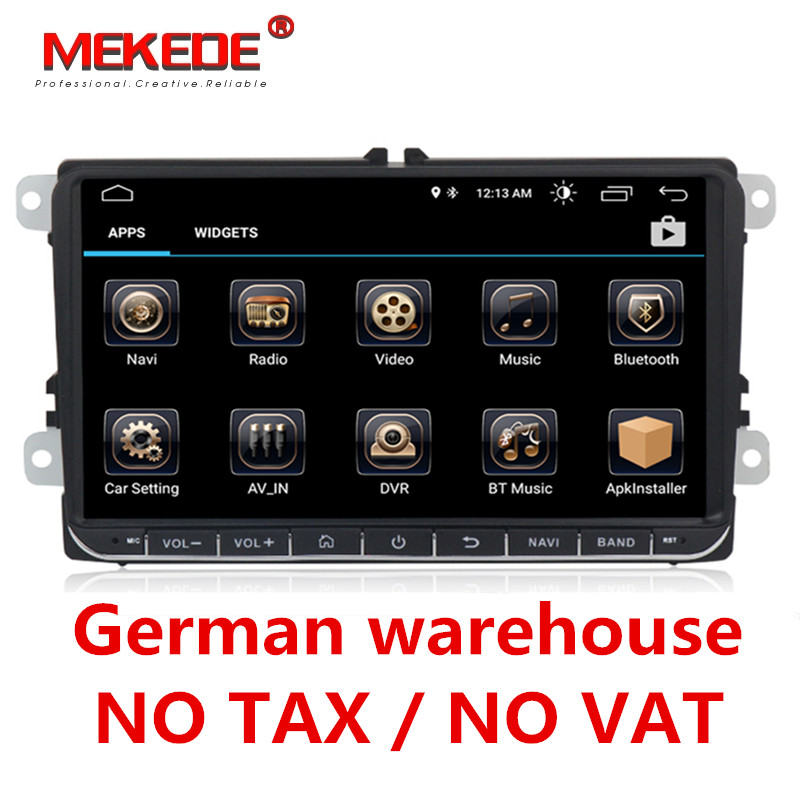 German warehouse 9 Android 8.0 Car GPS for VW Volkswagen Skoda Octavia Fabia Rapid Yeti Superb Seat golf polo BT RDS dvd player эмблема для авто vw original oem vw skoda skoda fabia octavia roomster
