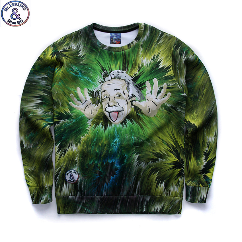 12-18years big kids brand sweatshirt boy youth fashion funny Albert Einstein 3D printed hoodies girls jogger sportwear teens W27