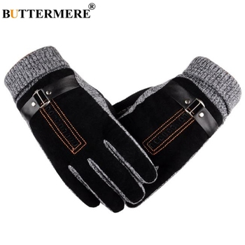 locomotive gloves leather motorcycle gloves warm retro ride men harley waterproof leather gloves cold resistant BUTTERMERE Gloves Motorcycle Men Pigskin Leather Gloves Male Winter Warm Genuine Leather Ski Motorbike Cycling Gloves For Men