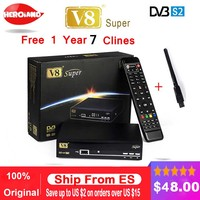 Freesat V8 Super DVB-S2 FTA Odbiornik Satelitarny Full 1080 P HD dekoder satelitarny + USB WIFI wsparcia Biss Key newcam 3G IPTV Youporn