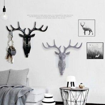 Aufhänger Haken Kreative Amerikanischen Stil Deer Kopf Modell Wand Saugnapf  Dekoration Aufhänger Wohnzimmer Schlafzimmer Mantel Schlüssel Haken