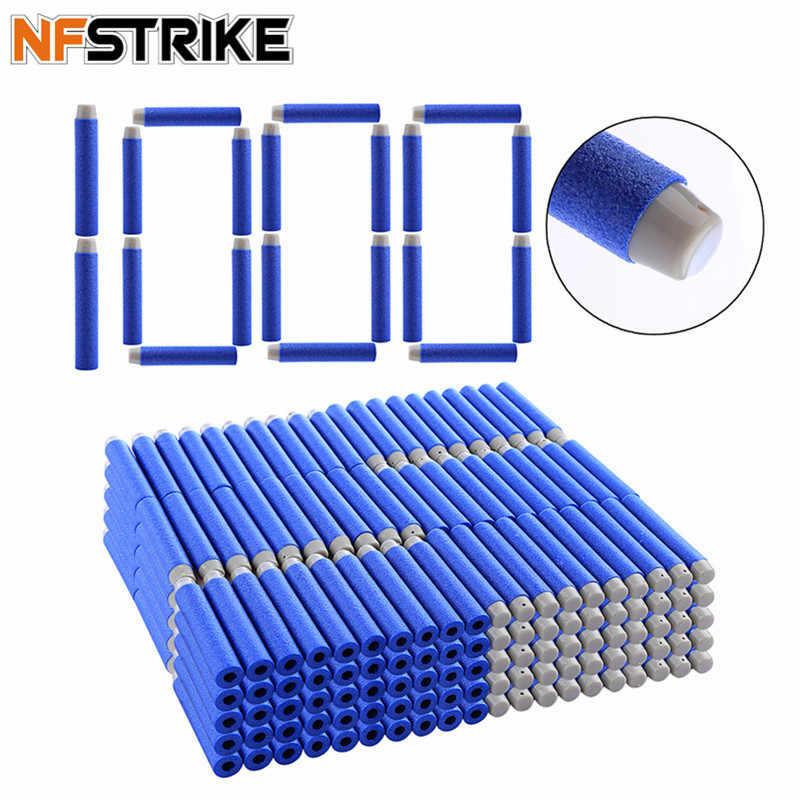 NFSTRIKE 1000pcs 7.2*1.3cm Soft Kogels Schuim Kogels Voor Nerf Strike Elite Sucker Rampage/Retaliator Series blasters Speelgoed Pistool