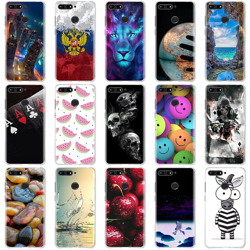For Huawei Honor 7A Pro / Y6 Prime 2018 Case Cover Silicone Coque 3D