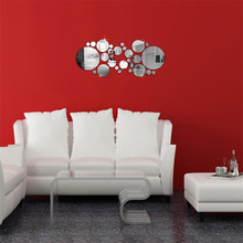 High Qulity Luxury Large DIY 3D Clouds Home Decor Bell Cool Mirrors Stickers Art Watch