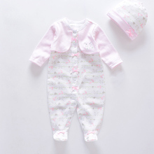 Baby girls roupas de bebe new baby rompers +hat 100% soft co