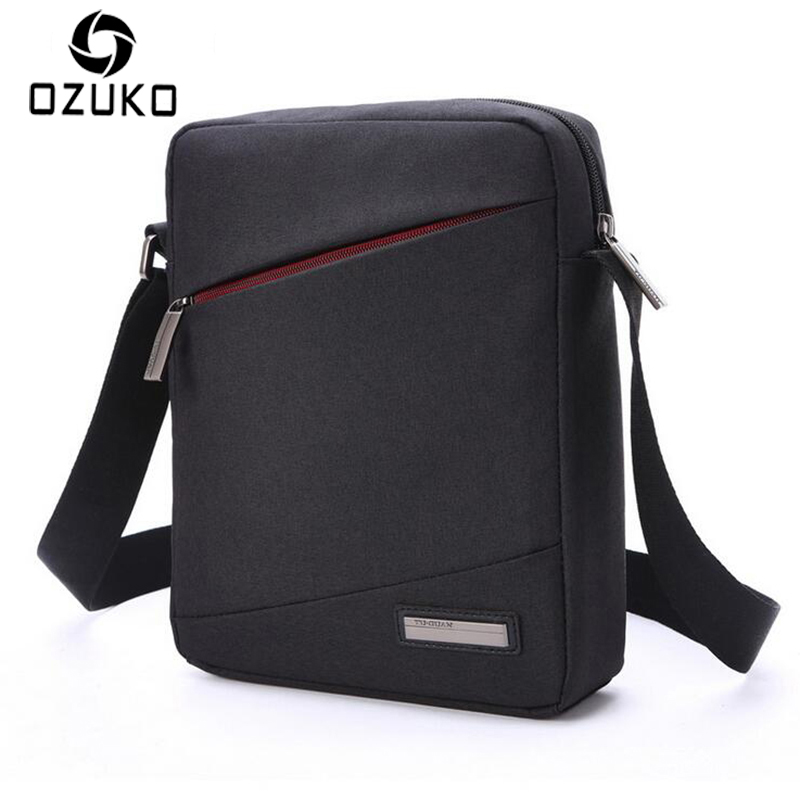 2018 New Style OZUKO Brand Men Bag High Quality Waterproof Oxford Crossbody Bag Business Casual Shoulder Messenger bag Briefcase light waterproof women s small crossbody bag camouflage fresh outdoor brand bag sport college style oxford hobos messenger bag