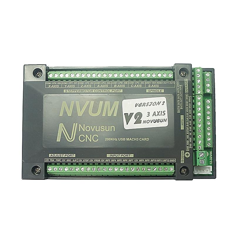 NVUM 4 Axis cnc engraver Mach3 USB Card 300KHz 3 4 6 Axis CNC drilling machine Motion Control Card Breakout Board цены