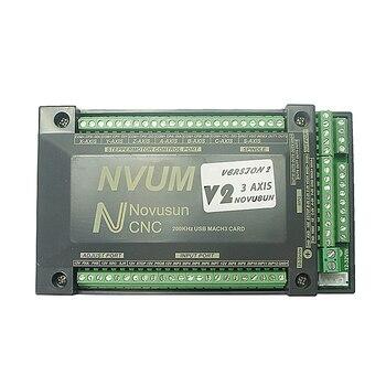цена на NVUM 4 Axis cnc engraver Mach3 USB Card 300KHz 3 4 6 Axis CNC drilling machine Motion Control Card Breakout Board