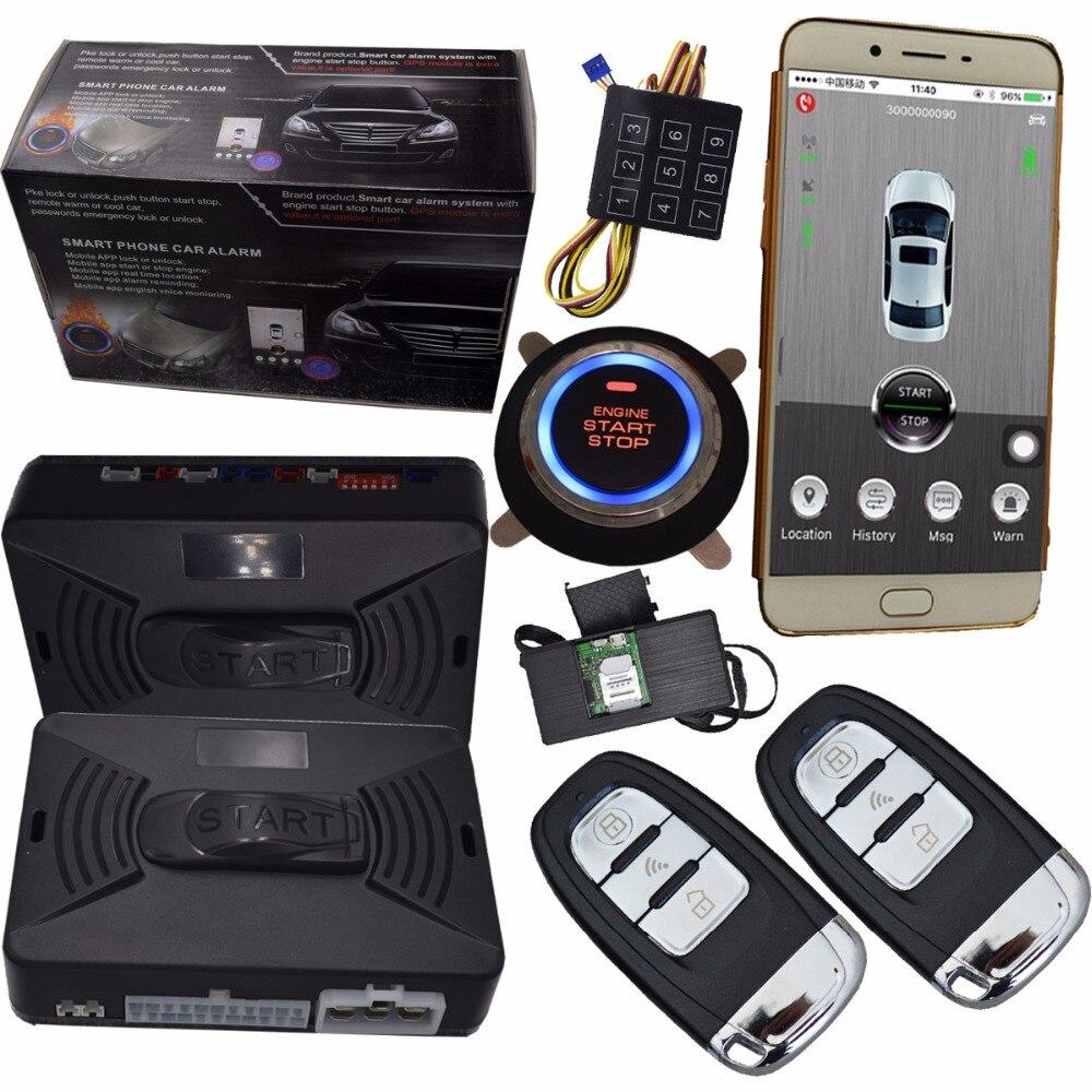 Cardot auto auto sistema di sicurezza di allarme smart phone di arresto del motore da controllo auto da corsa di velocità gps on-line di monitoraggio di controllo vocale