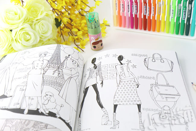 Korea Famous Luxury Fashion Costume Graffiti Colouring Book Coloring 96 Pages 25x25cm Free Shipping In Art Sets From Office School