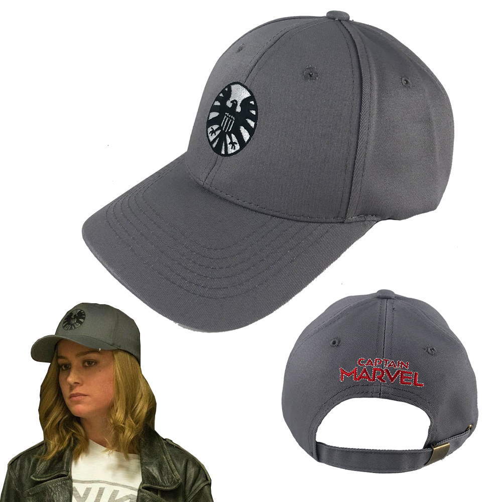 Captain Marvel Hats Cosplay Captain Marvel Costume Accessory Agents of S.H.I.E.L.D. Baseball Cap Unisex Adjustable Hip Hop Hat