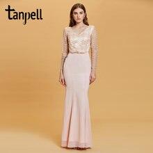 Женское кружевное вечернее платье с v образным вырезом длинным