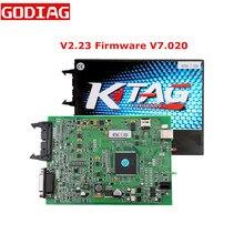 Последняя прошивка V2.23 V7.020 KTAG V7.020 ECU Инструмент для программирования мастер-версия K-tag с неограниченным маркером без маркера