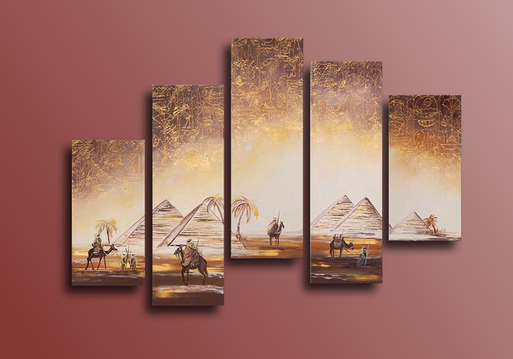 The Pyramids Of Egypt Hand Painted Wall Art Canvas