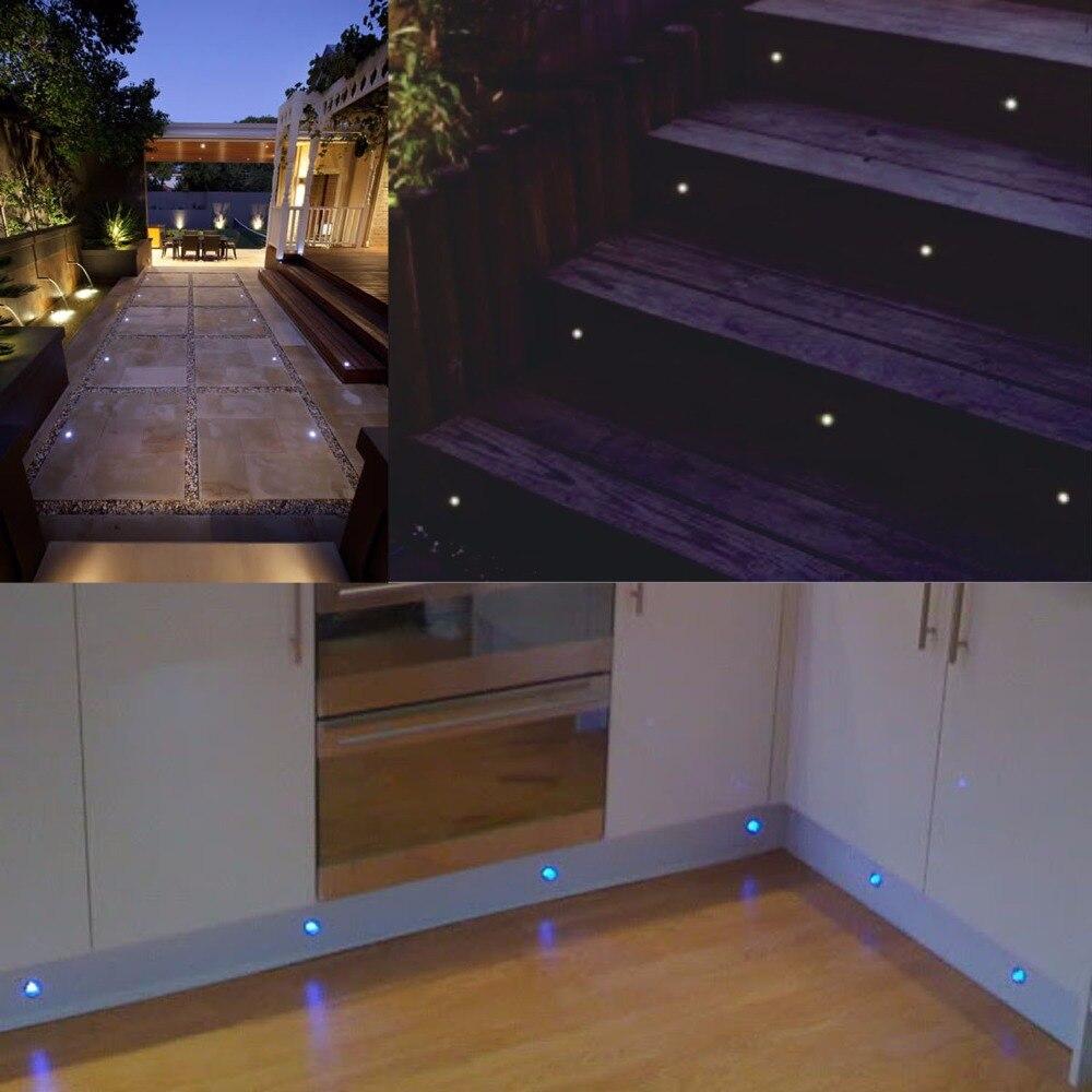 QACA Underground Lamp LED Deck Lights Recessed Stair Light IP67