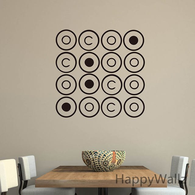 DIY Circle Wall Sticker Circle Wall Decals Kids Room Living Room Modern Vinyl  Wall Art Circle