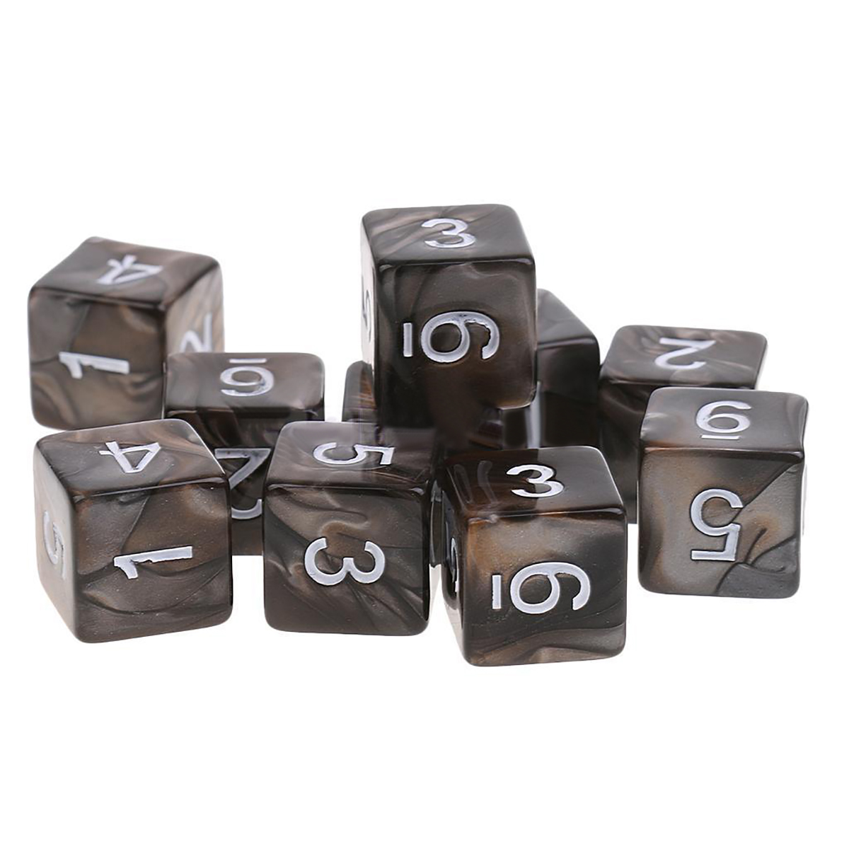 New D6 Sided Dice Set Polyhedral 6 Sides 10PCS Dice For Dungeons and Dragons MTG RPG Desktop Funny Games Outdoor Party Bar Tools ゲーム ポート ピン