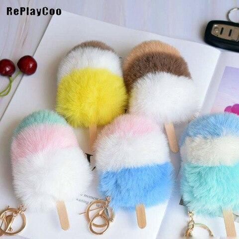 10 pcs lote chaveiros de pelucia pingente brinquedos boneca macia imitacao pele de coelho recheado