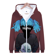 3D Sally Face Zipper Hoodies Sweatshirts Men/Women Fashion Street Hooded Boy/Girls hoodies