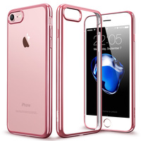 Case For IPhone 7 7 Plus ESR Clear Soft TPU Plating Frame Bright Glossy Metal Coloring