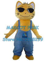 yellow cat mascot costume custom cartoon character cosply adult size carnival costume 3174