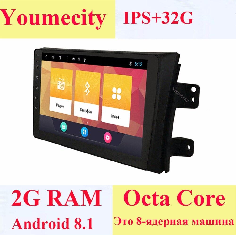 Youmecity Android 8 1 Car DVD for Suzuki SX4 2007 2013 3G 4G GPS radio video