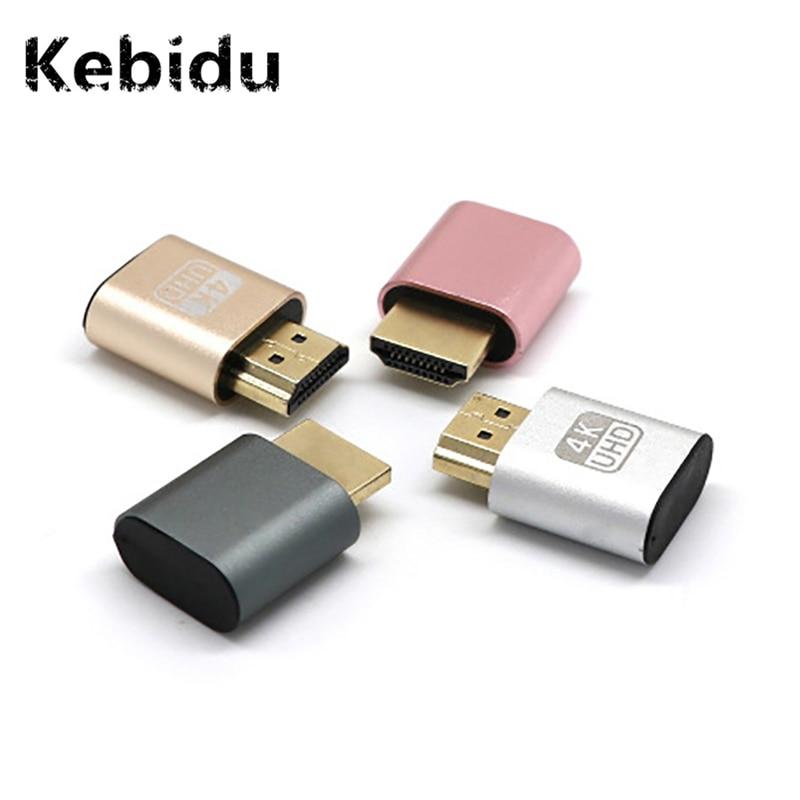Kebidu VGA Virtual Display Adapter Headless Ghost Display Emulator Lock DDC  EDID Dummy HDMI Plug Aluminum Alloy Wholesale -in Computer Cables &